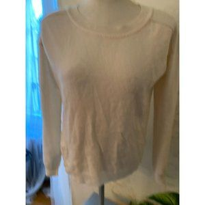 Feel the PIece Ivory Cashmere Sweater Ladies M/L